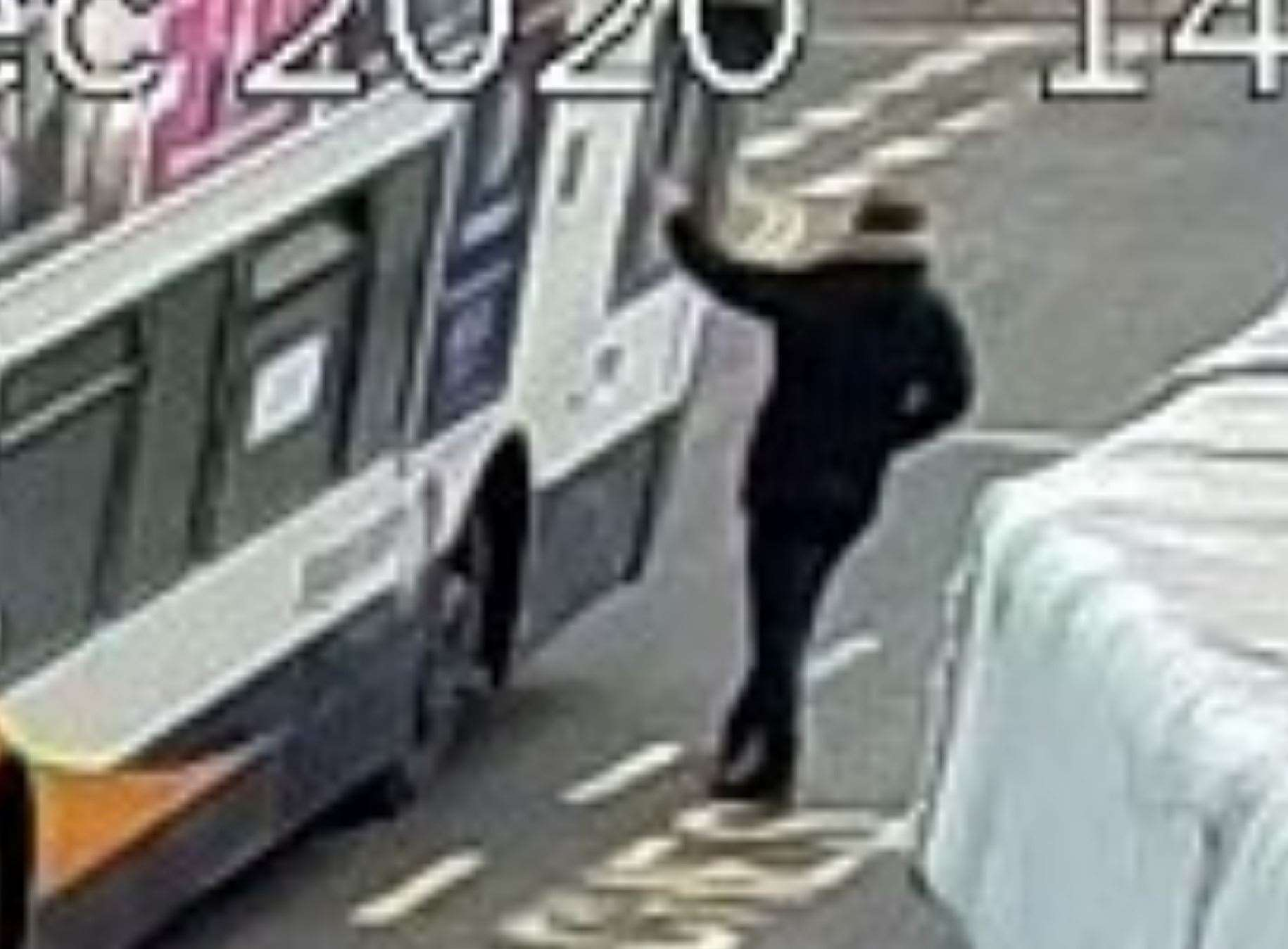 A bus driver was attacked through his window in Whitstable on December 28, 2020. Picture: Kent Police