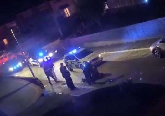 Police were seen arresting a teenager in Widgeon Road, Strood. Picture: Tracylight Harryanderson.(16266539)