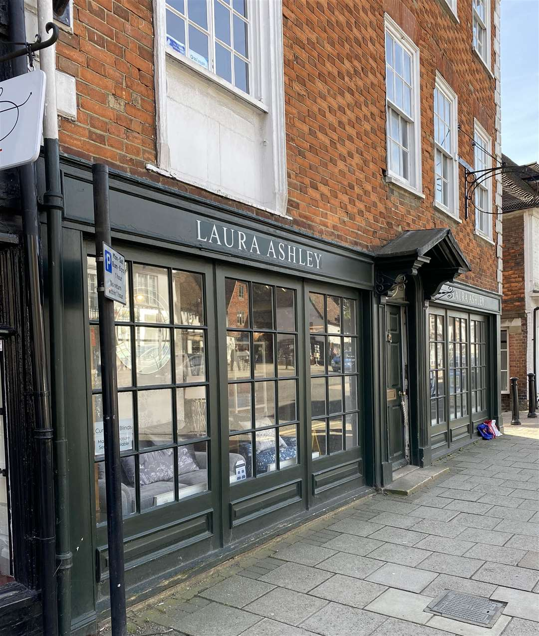 The Laura Ashley shop in Tenterden was still open earlier today