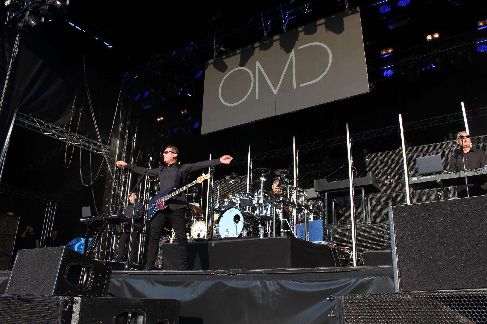 OMD at Kent Cricket's Spitfire Ground, Canterbury, on Wednesday. Picture: John Nurden (2441307)