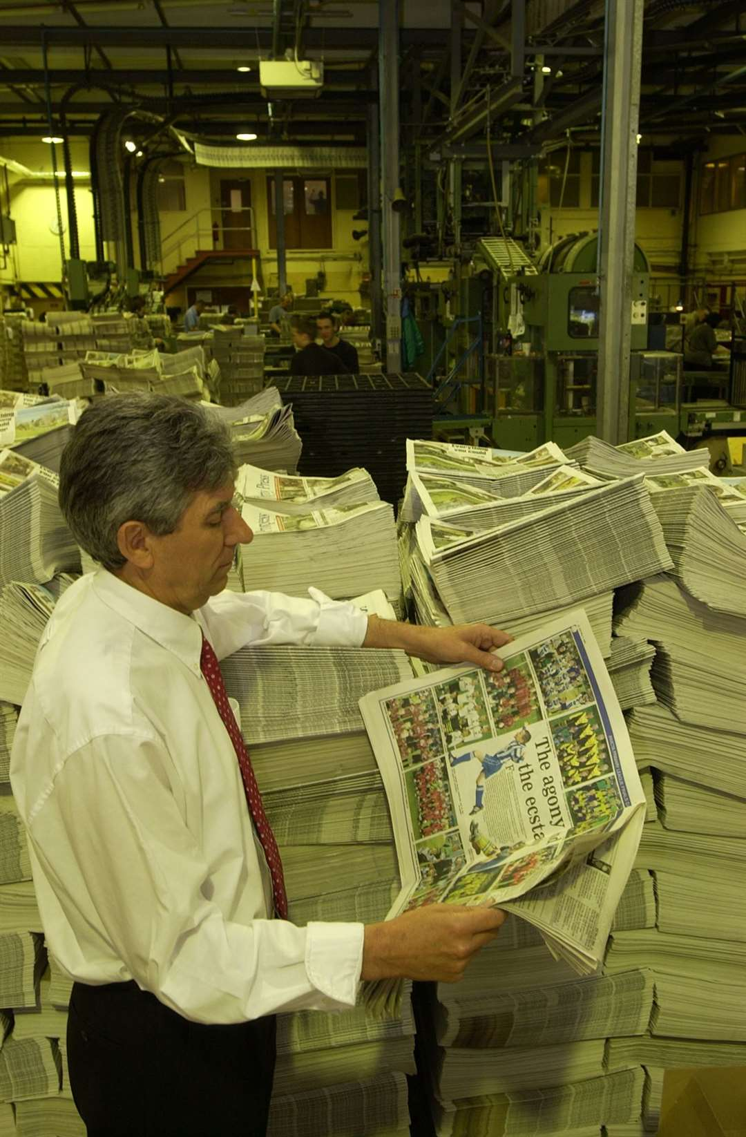 Ron Green in the press hall at the KM headquarters in Larkfield