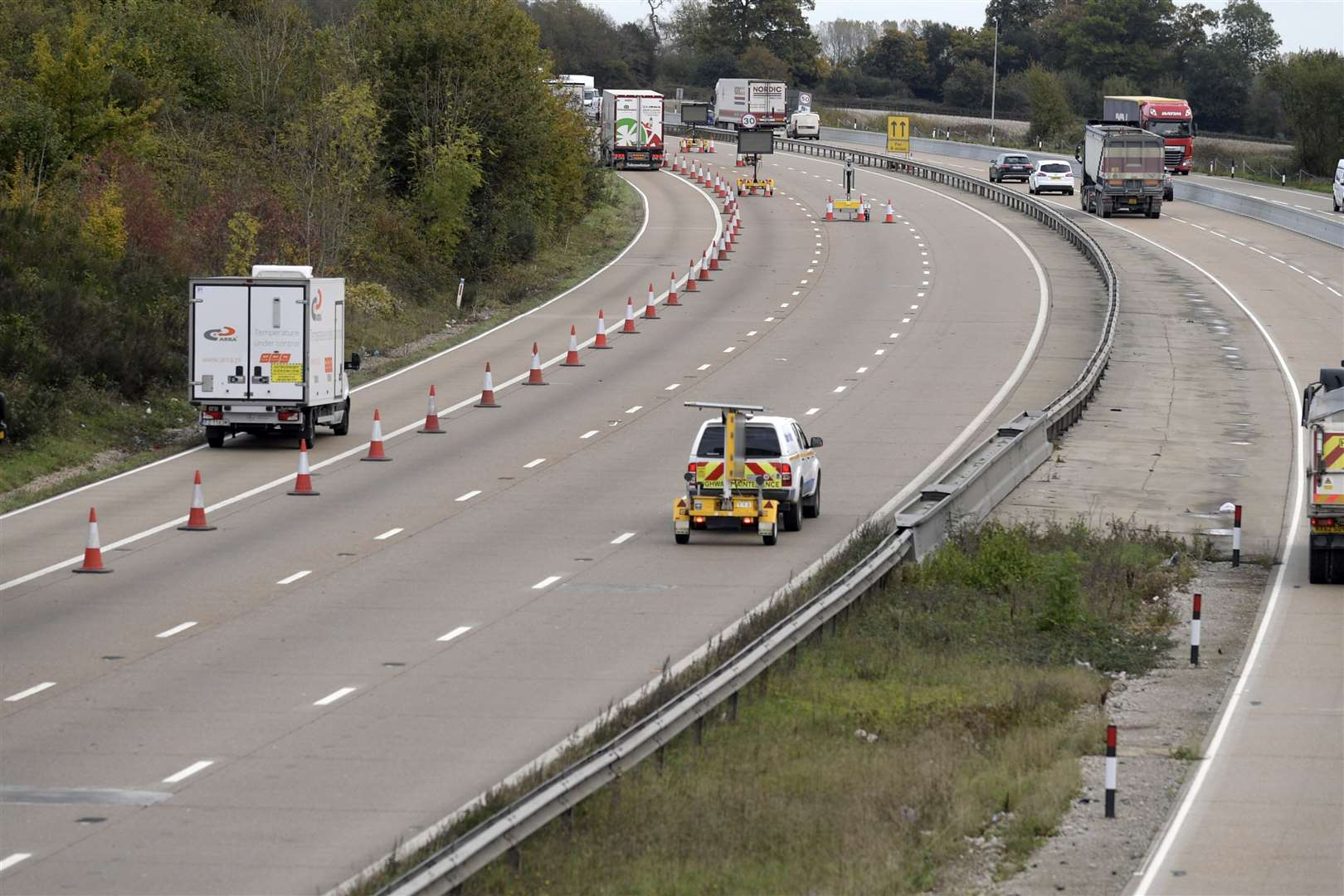 Highways England are set to the task of removing the traffic system. Picture: Barry Goodwin