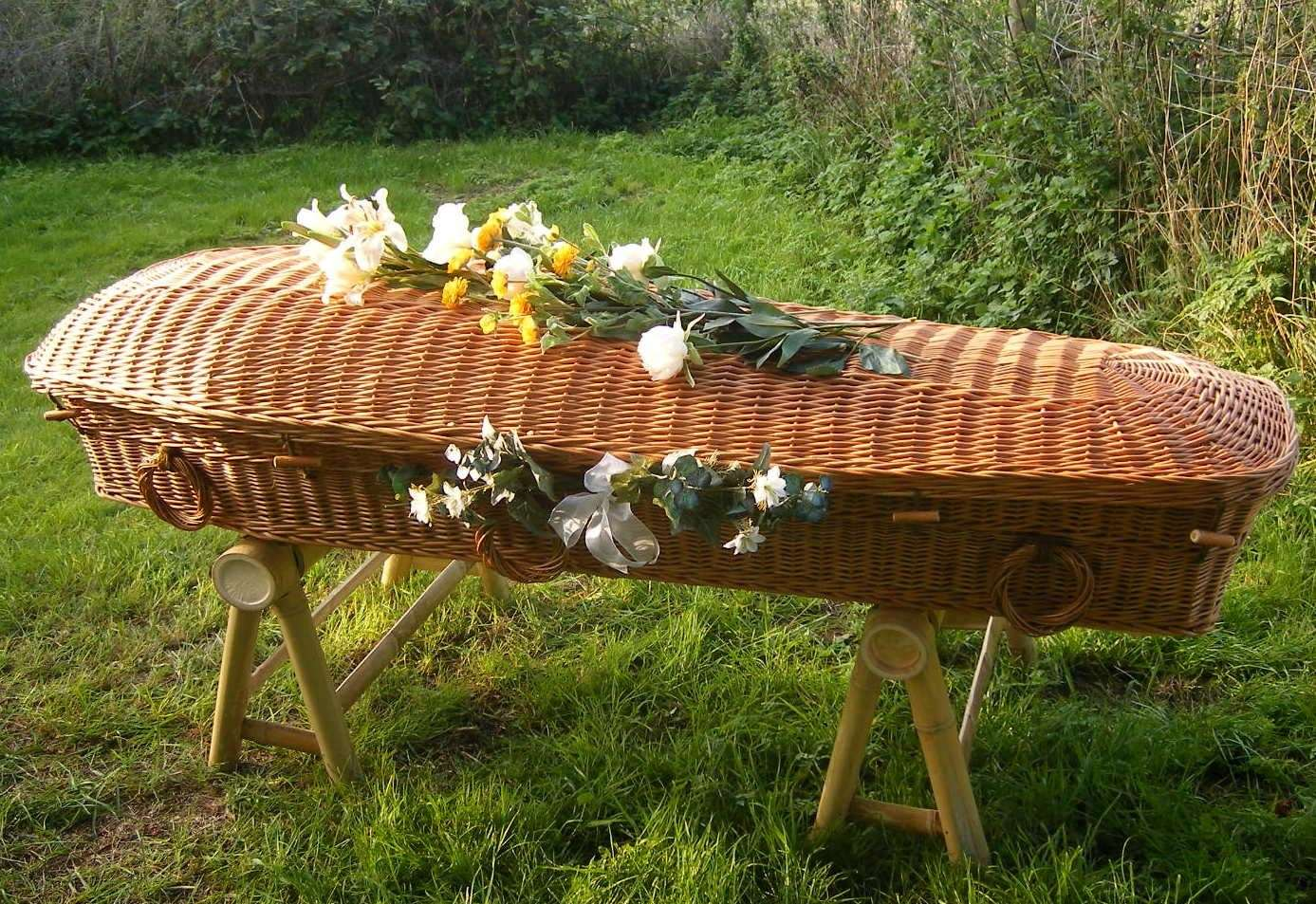 Eco type coffins are used at such sites. Stock picture