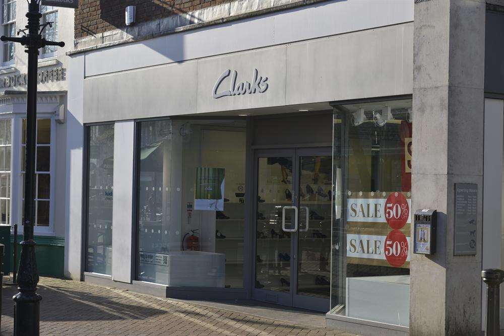 The former Clarks shoe shop in Ashford town centre