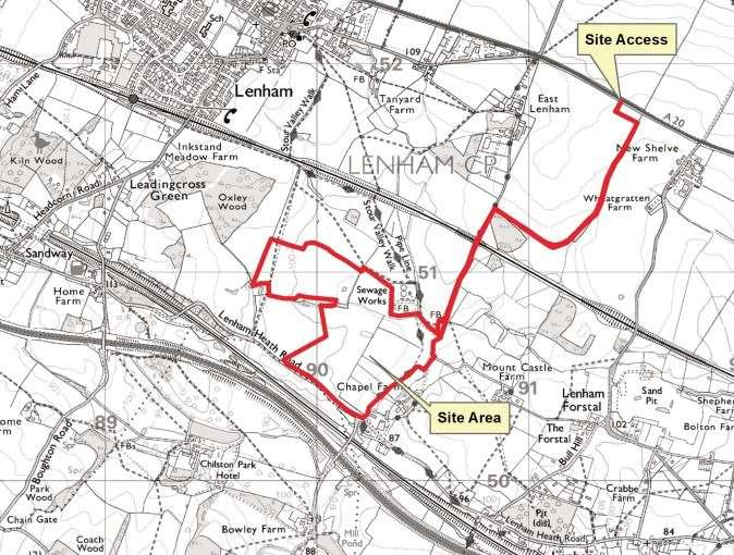 Chapel Farm in Lenham has been earmarked for a quarry, next to a huge proposed development Picture: KCC