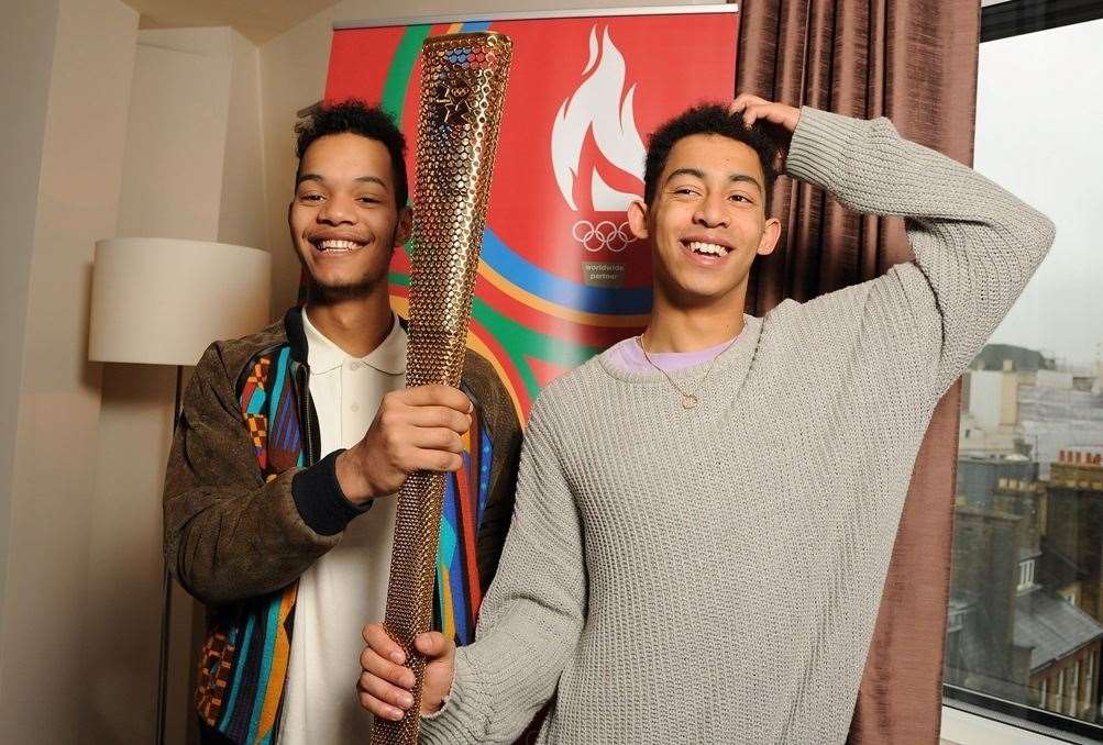 Rizzle Kicks performed at two Olympic torch relay celebrations in Dover and at Leeds Castle
