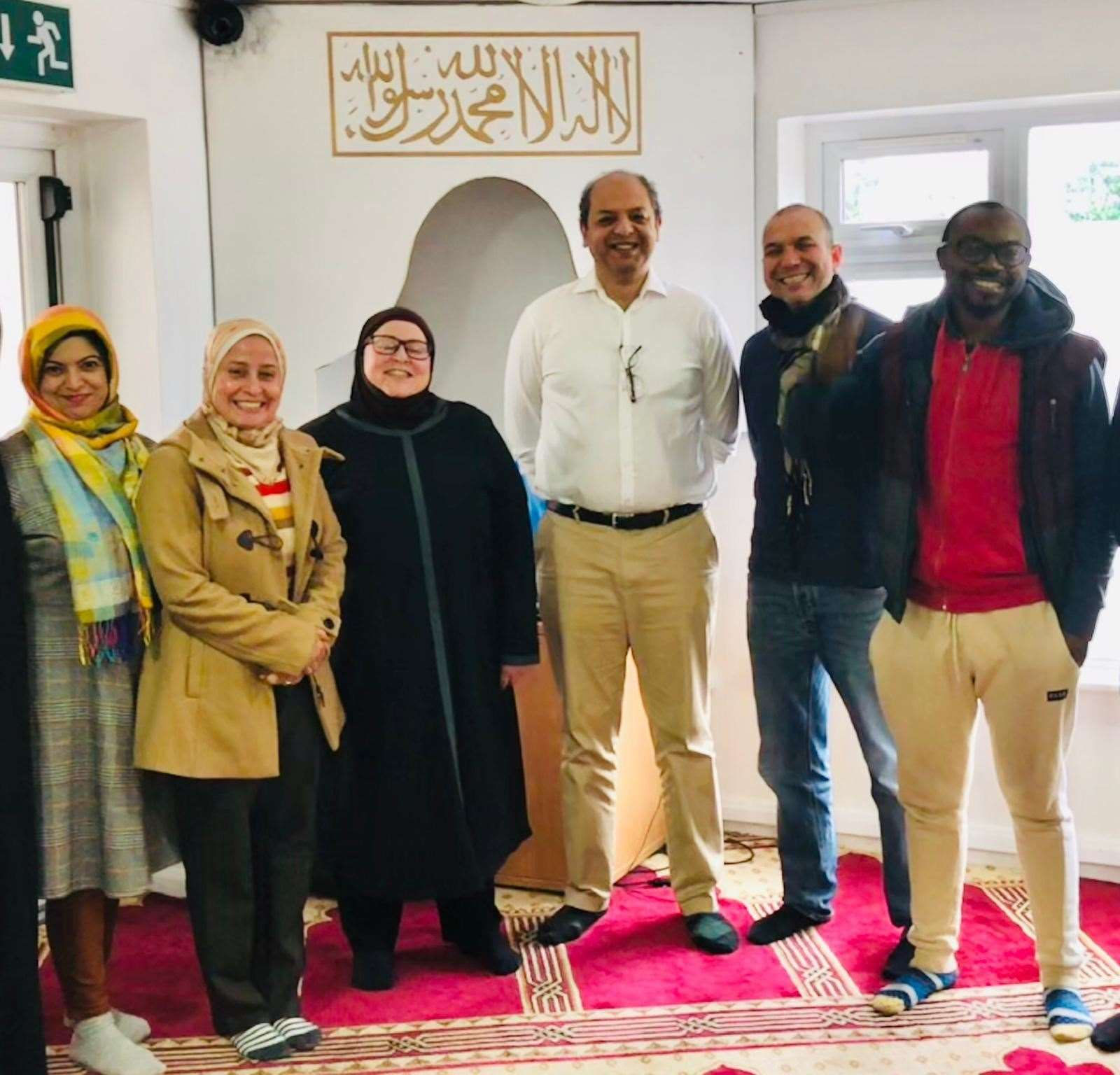 Canterbury Mosque's elected committee members (picture taken pre-pandemic)