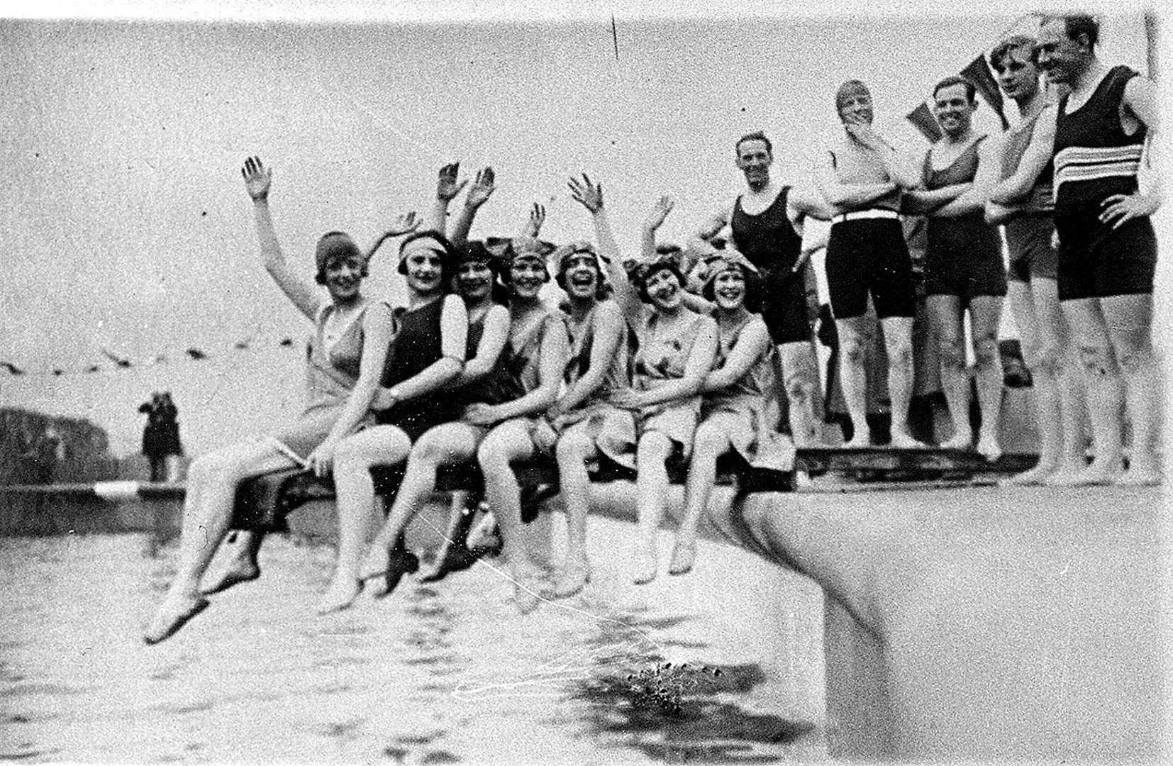 Part of the grand opening of the new Clifton Baths, later Lido, swimming pool in 1927 Picture: Bill Evans