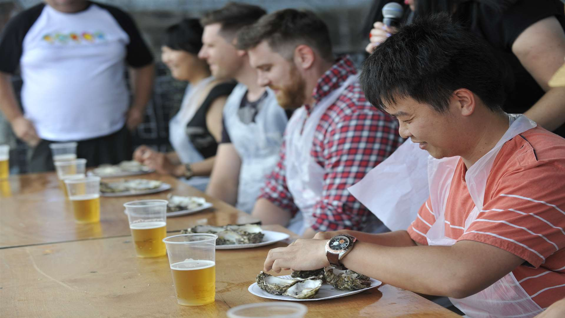 The oyster eating challenge will move to Tankerton Slopes.