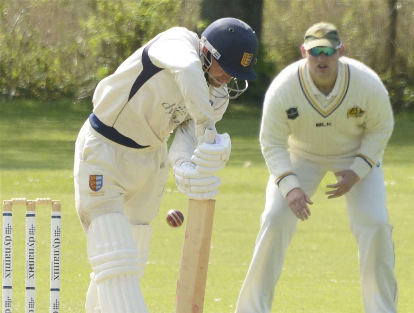 Tom Chapman led Sandwich Town home with 55 not out in their eight-wicket win over Folkestone. Picture: Paul Amos