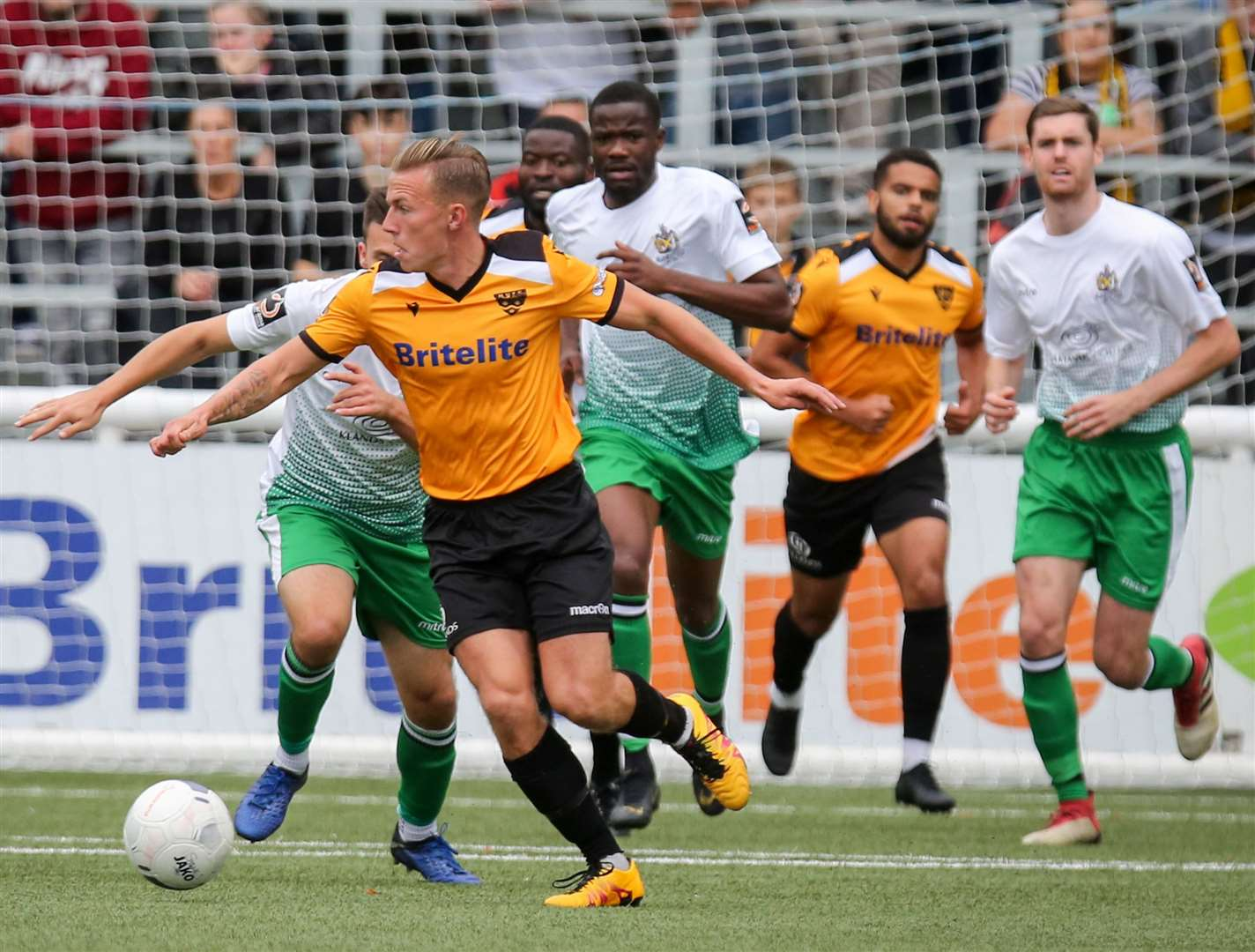 Sam Corne hasn't played for Maidstone since this match against St Albans Picture: Matthew Walker