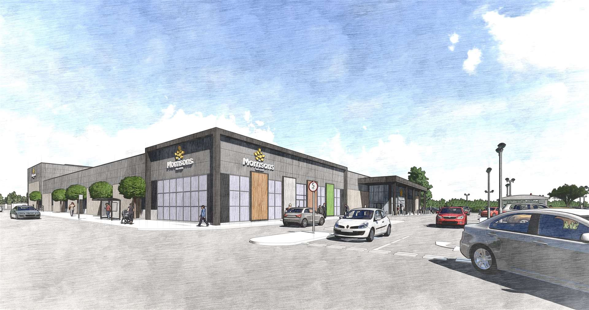 Artist impressions of the new store in Folkestone were released earlier this year
