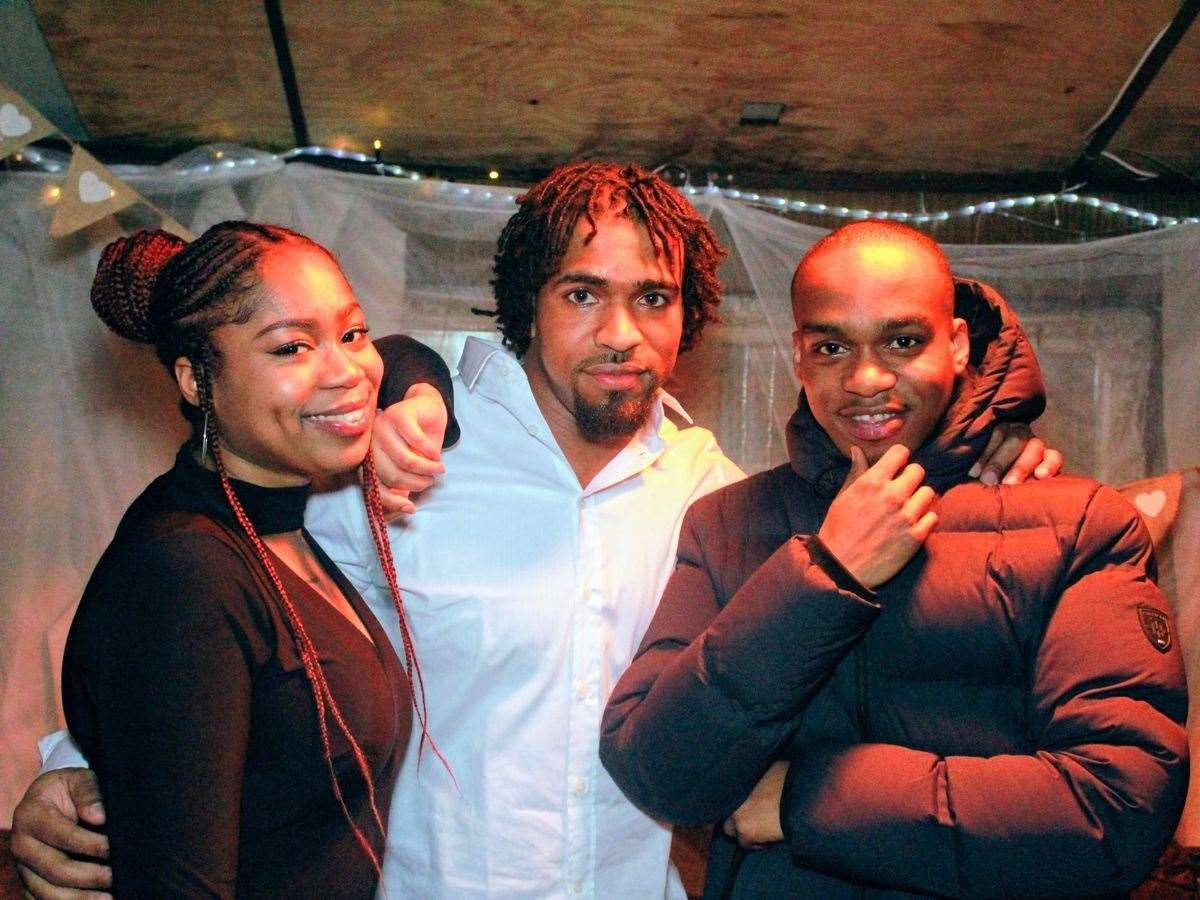 Andre Bent (right) with sister Michaela and cousin Louis