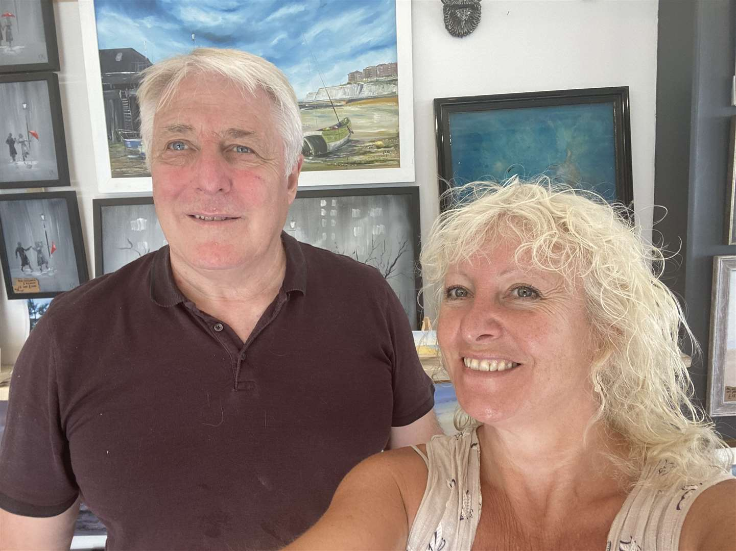 Little Art Gallery in Broadstairs, run by Vicki Griggs and Kevin Malone