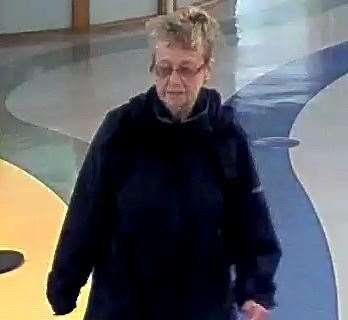 This picture of Mrs Ratcliffe was taken at the hospital - Have you seen her?