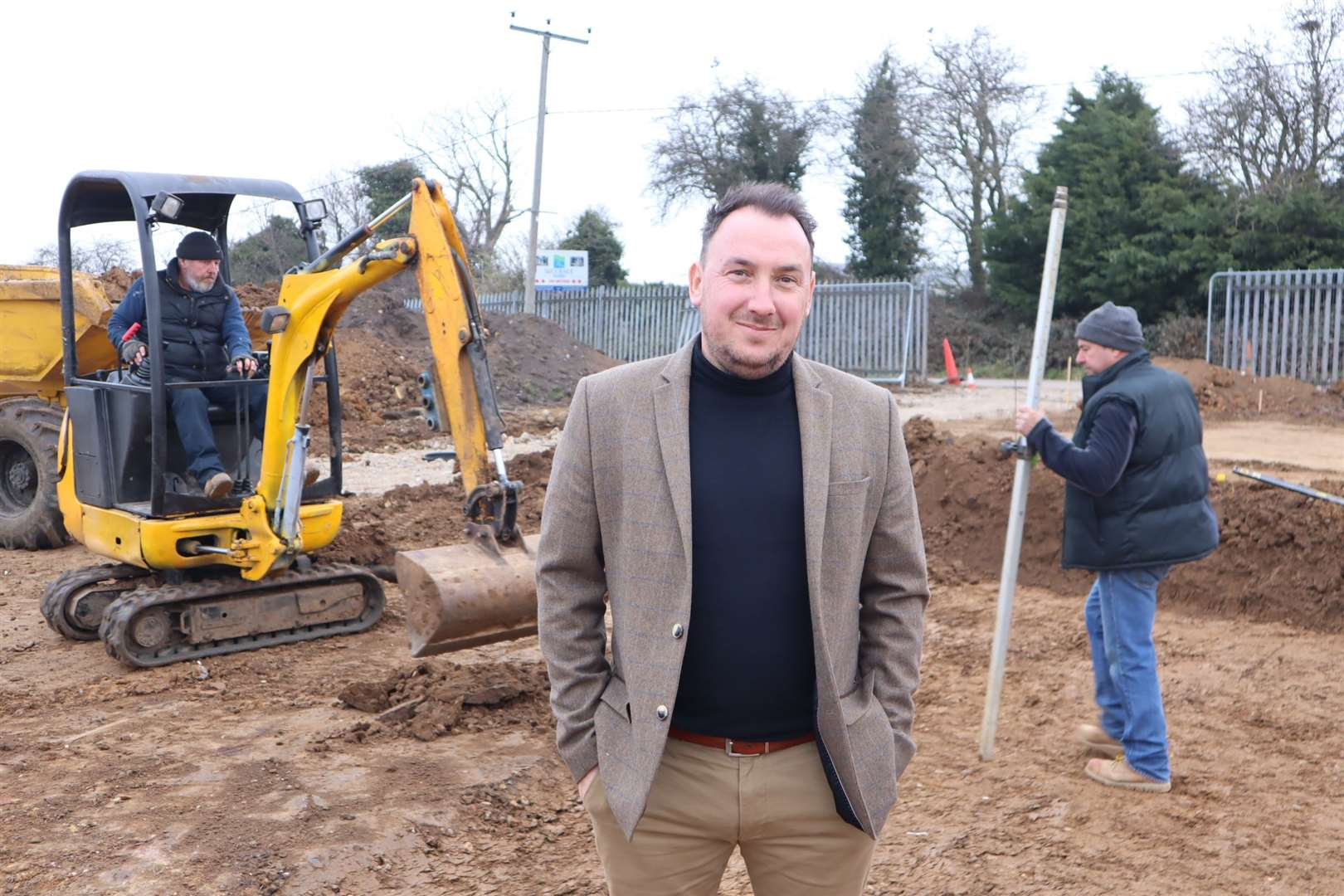 Sales manager Michael Edwards Eastchurch Holiday Centre on the Isle of Sheppey where new luxury loddges are being added. Picture: John Nurden (44752512)