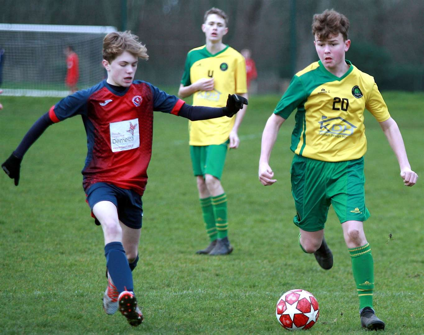 Hempstead Valley under-15s takes on Cliffe Woods Colts under-15s (green) on Sunday. Picture: Phil Lee FM26563261