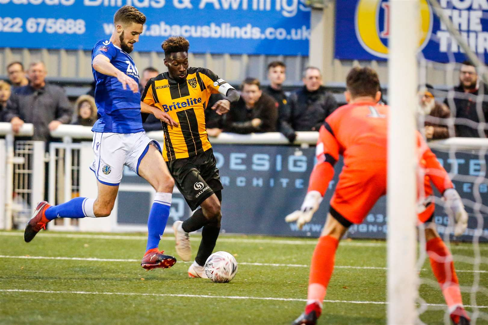 Blair Turgott in full flow for Maidstone during an FA Cup win over League 2 Macclesfield Picture: Matthew Walker
