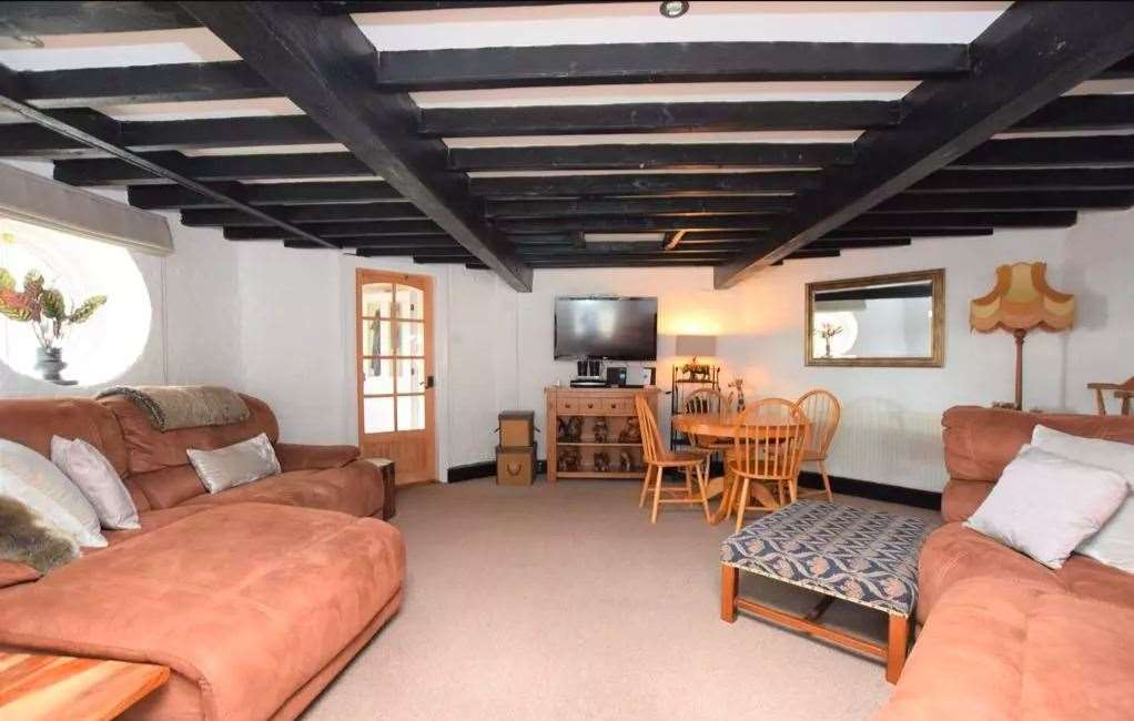 There are three bedrooms and a lounge in the windmill itself