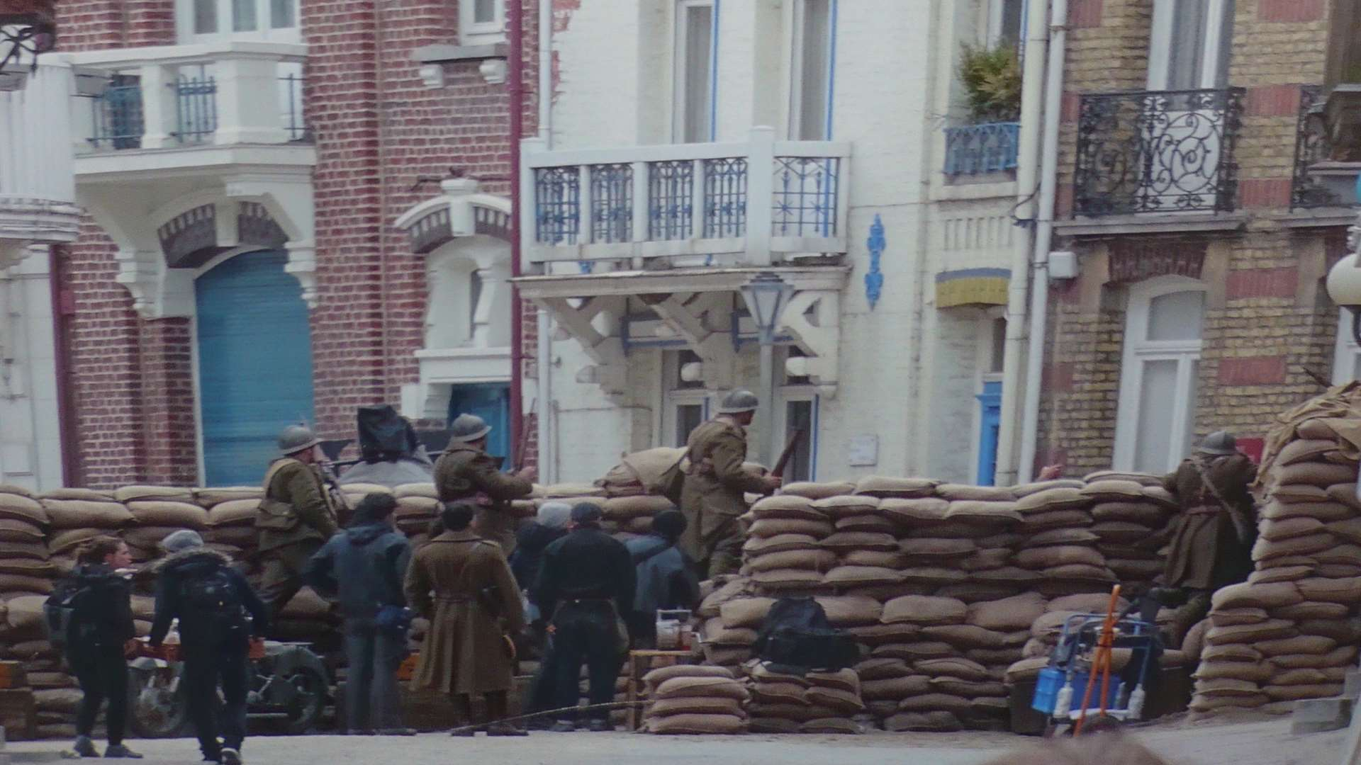 Rue Belle Rade during filming.