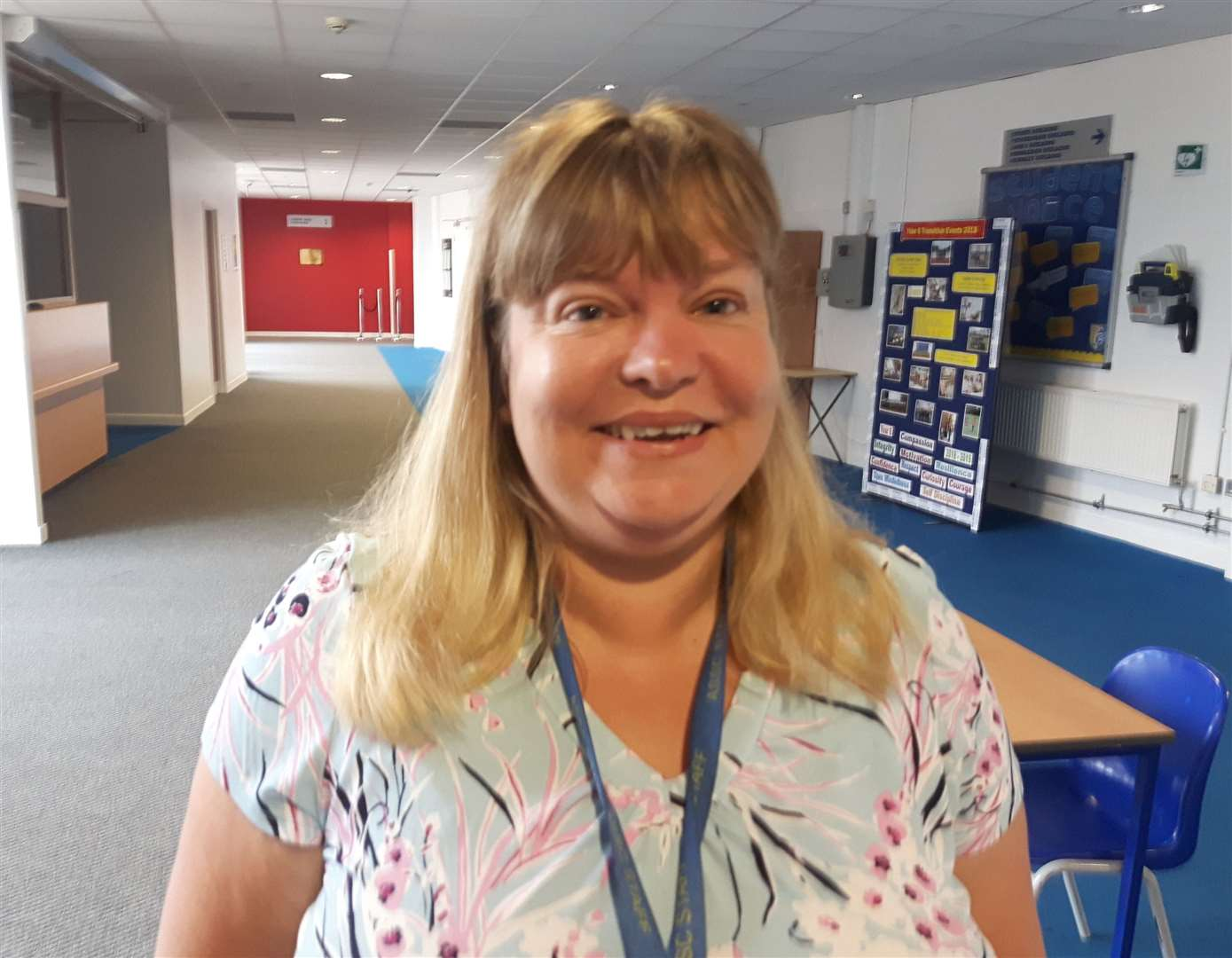 Head teacher at Aylesford School, Tanya Kelvie