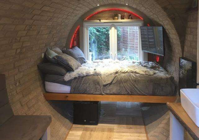 How the sleeping area could look inside the house