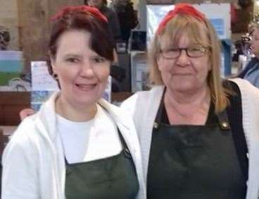 Carol Philpott and Lisa Farnes, founders of the Sandwich Nostalgic and History Group have been chosen to switch on the lights