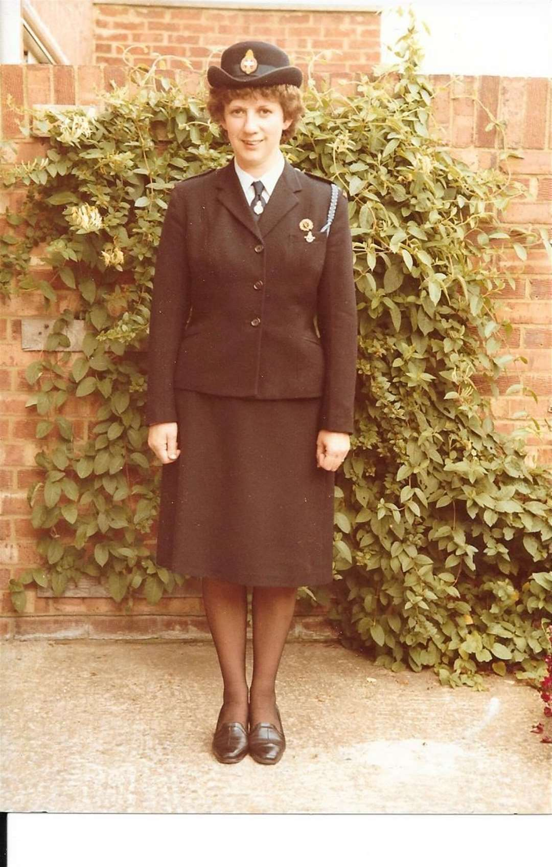Lynda Nash in her Girl' brigade uniform