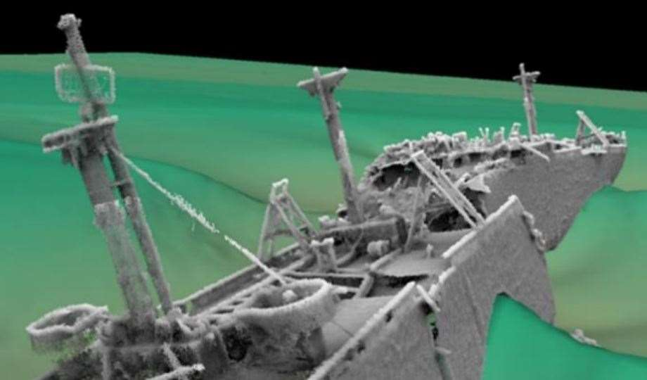 Latest image of the wreck of the SS Richard Montgomery Picture: Maritime & Coastguard Agency
