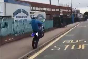 Members of the group then made their way on to pavements in an urbanised area. Picture: BikeLife TV