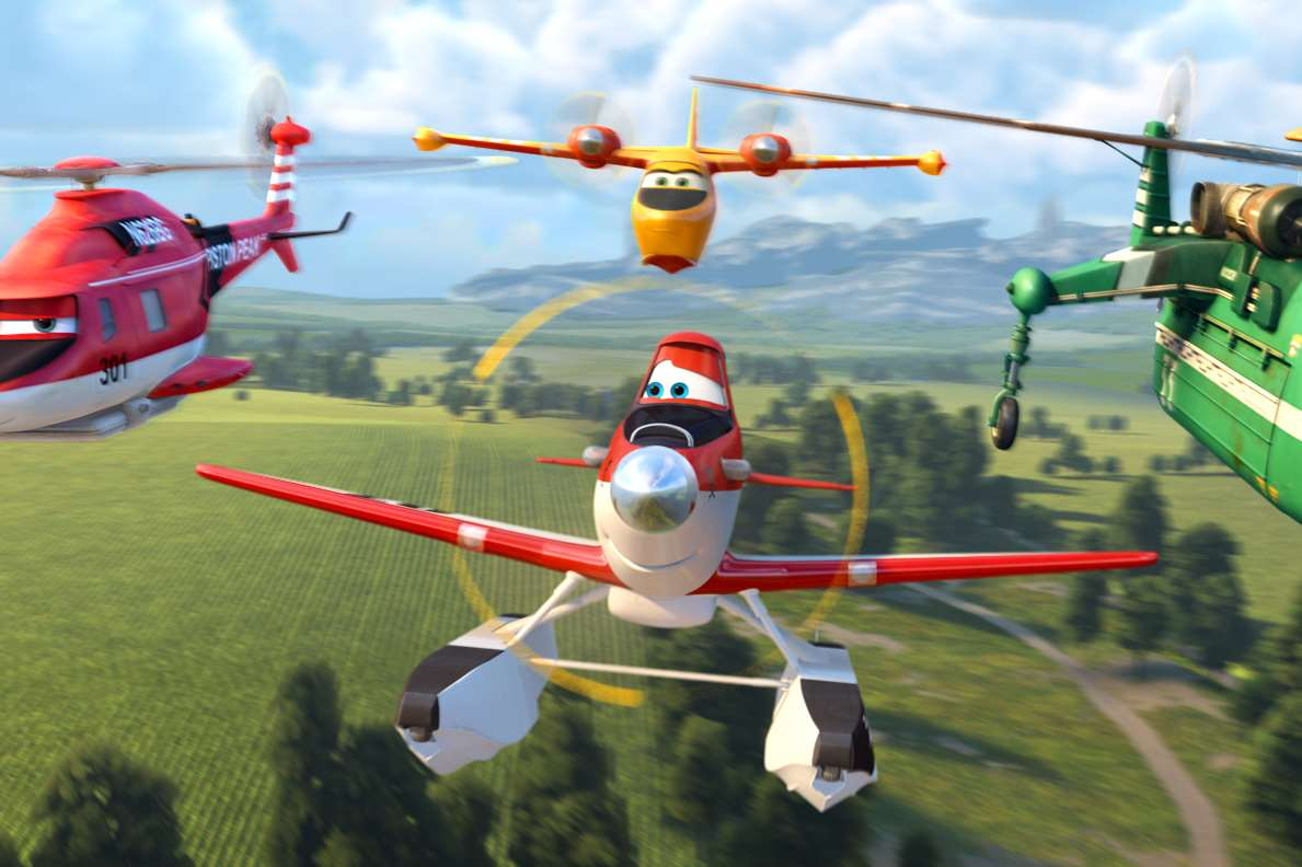 Planes 2: Fire & Rescue, Blade Ranger, Dipper, Dusty & Windlifter. Picture: PA Photo/Walt Disney Studios Motion Pictures UK