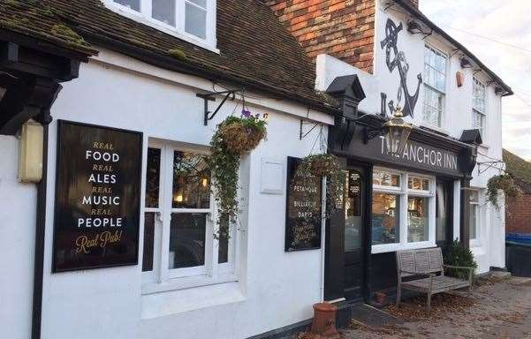 The Anchor Inn on Wingham High Street is a real gem right at the heart of the community