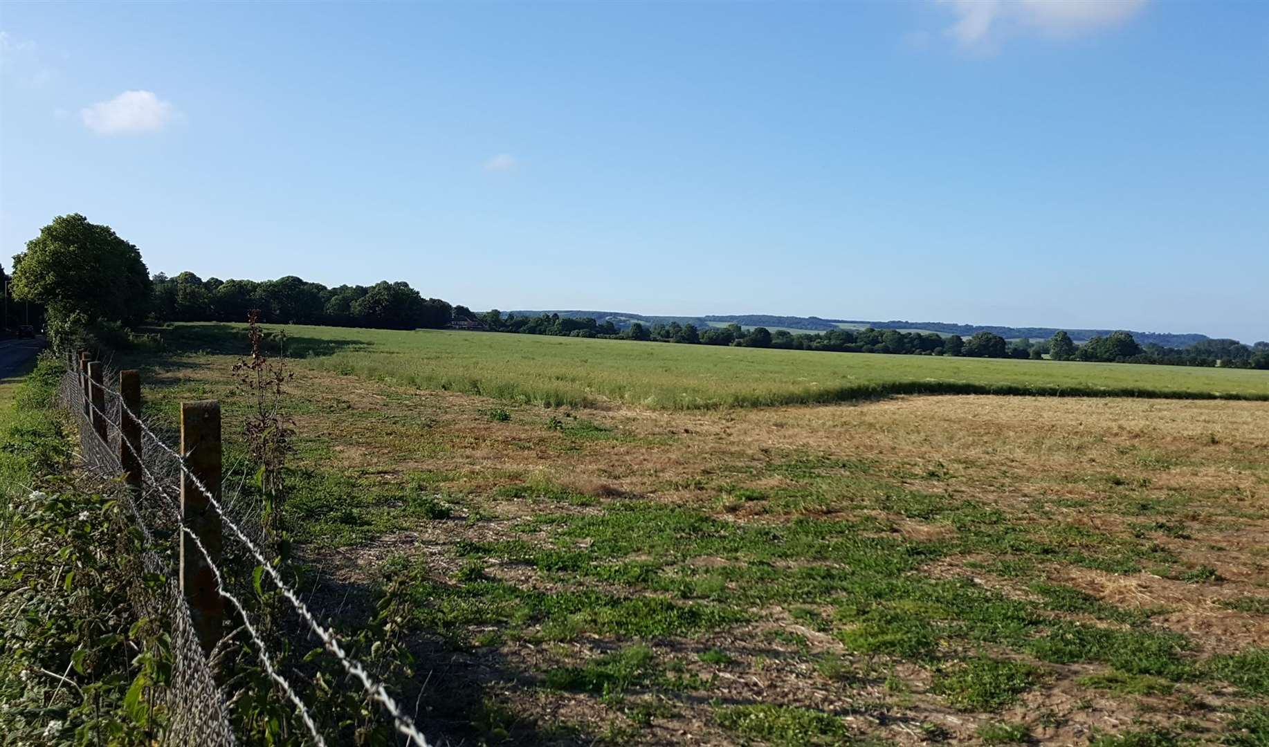 Fields off Willesborough Road are earmarked for development