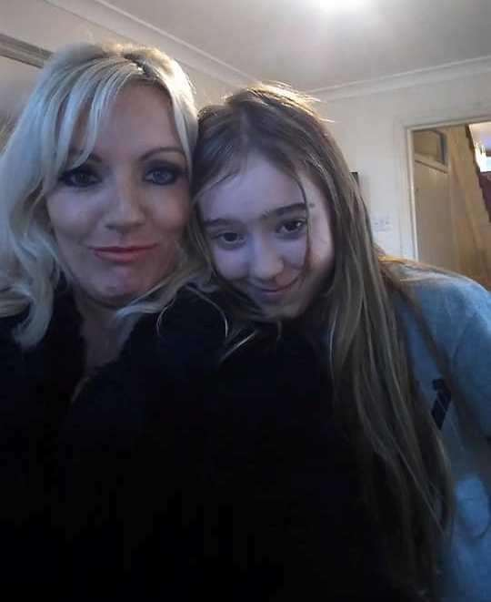Rosie with her mum Georgina during happier times