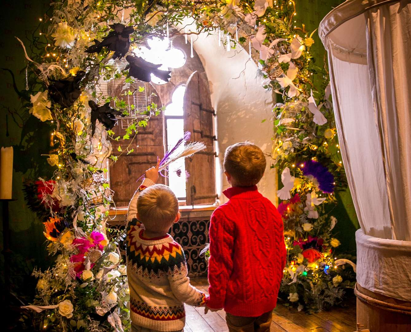 Write your Christmas dream on a feather in a room of winged wishes and experience shimmering duckling eggs ready to hatch under the tree. Picture: www.matthewwalkerphotography.com