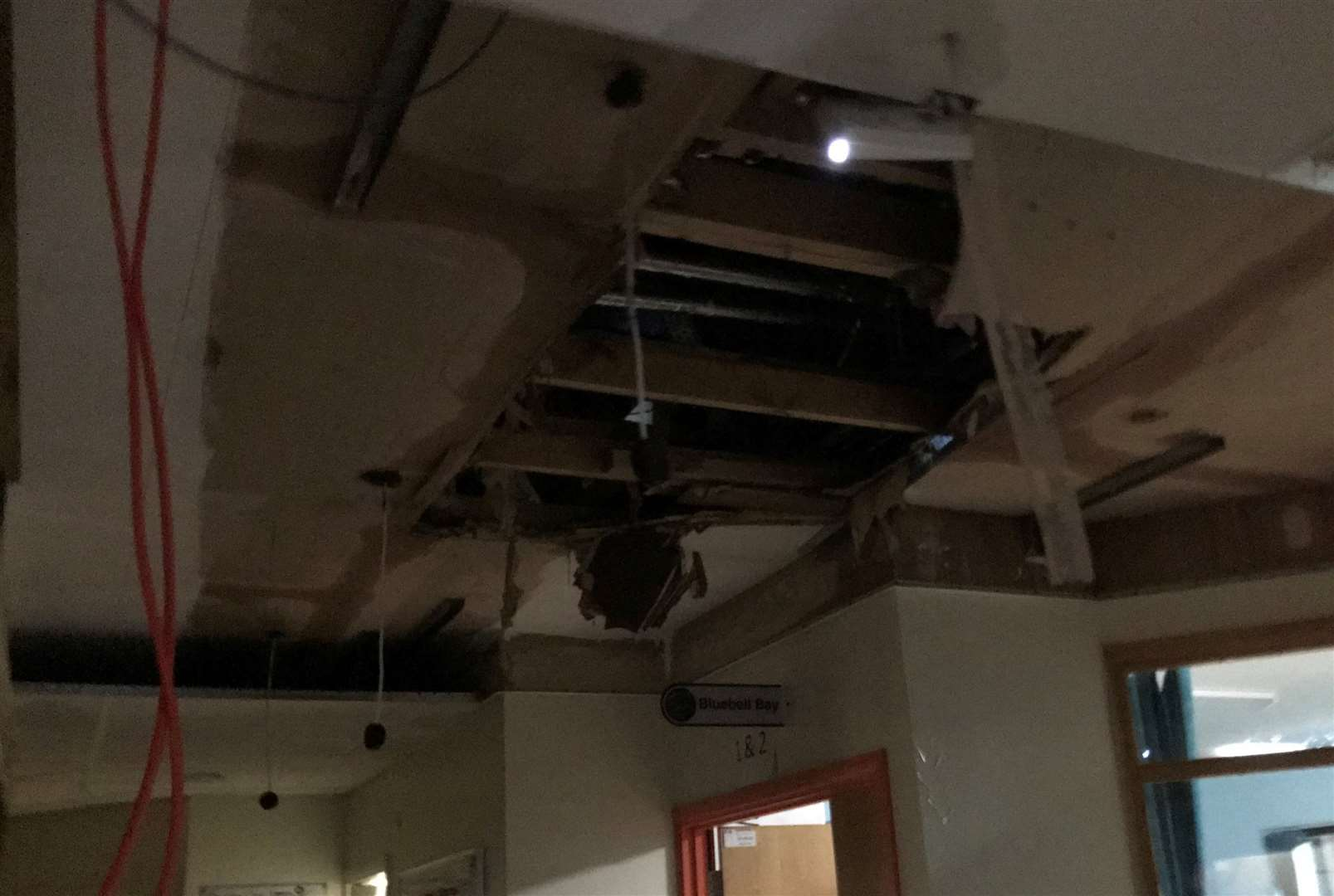 Damage at Tonbridge Cottage Hospital after a burst water pipe forced the hospital to close