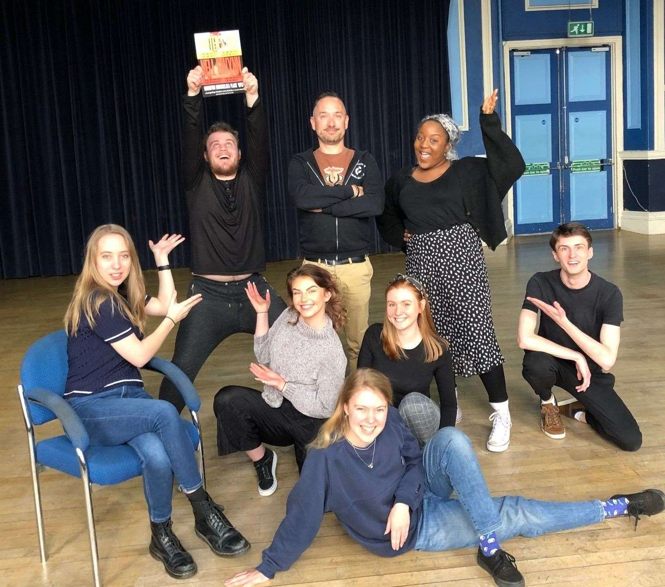 Changeling Theatre hopefuls with artistic director Rob Forknall