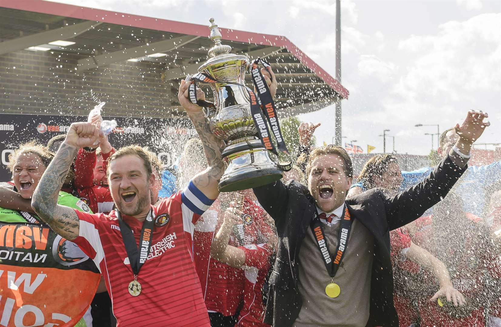 Winning promotion in 2017 was Danny Kedwell's highlight at Ebbsfleet Picture: Andy Payton