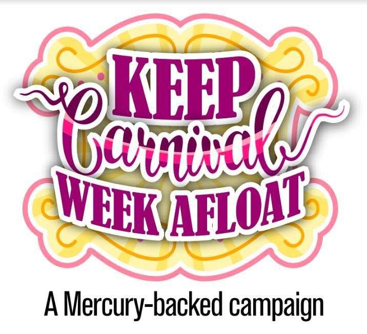The Mercury backed Keep Carnival Week Afloat logo