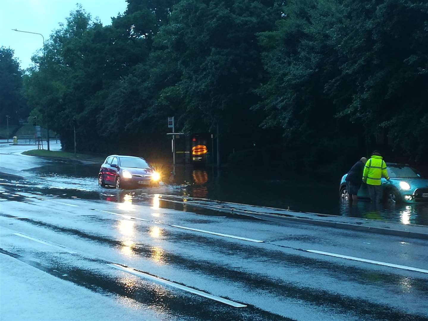 Flooding on the A20 London Road, Aylesford in June 2019 (12160355)