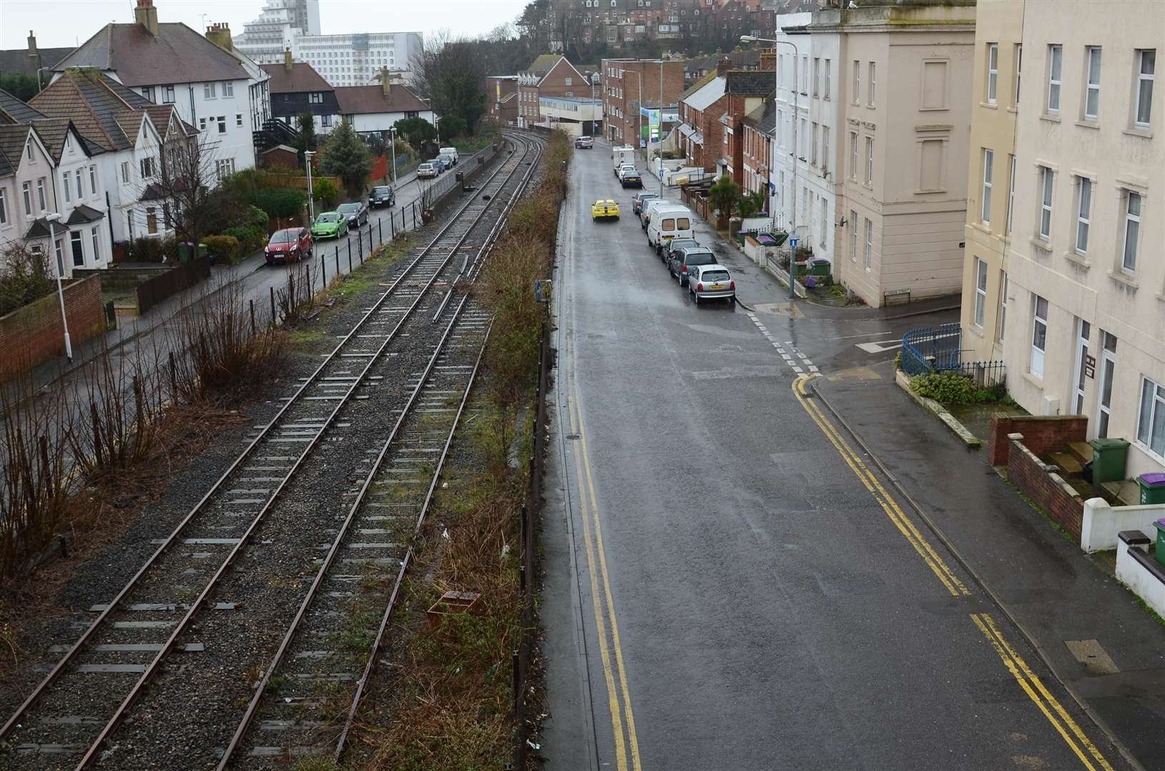 The Harbour Line along Tram Road, Folkestone, pictured five years ago. Picture: Gary Browne FM3059472