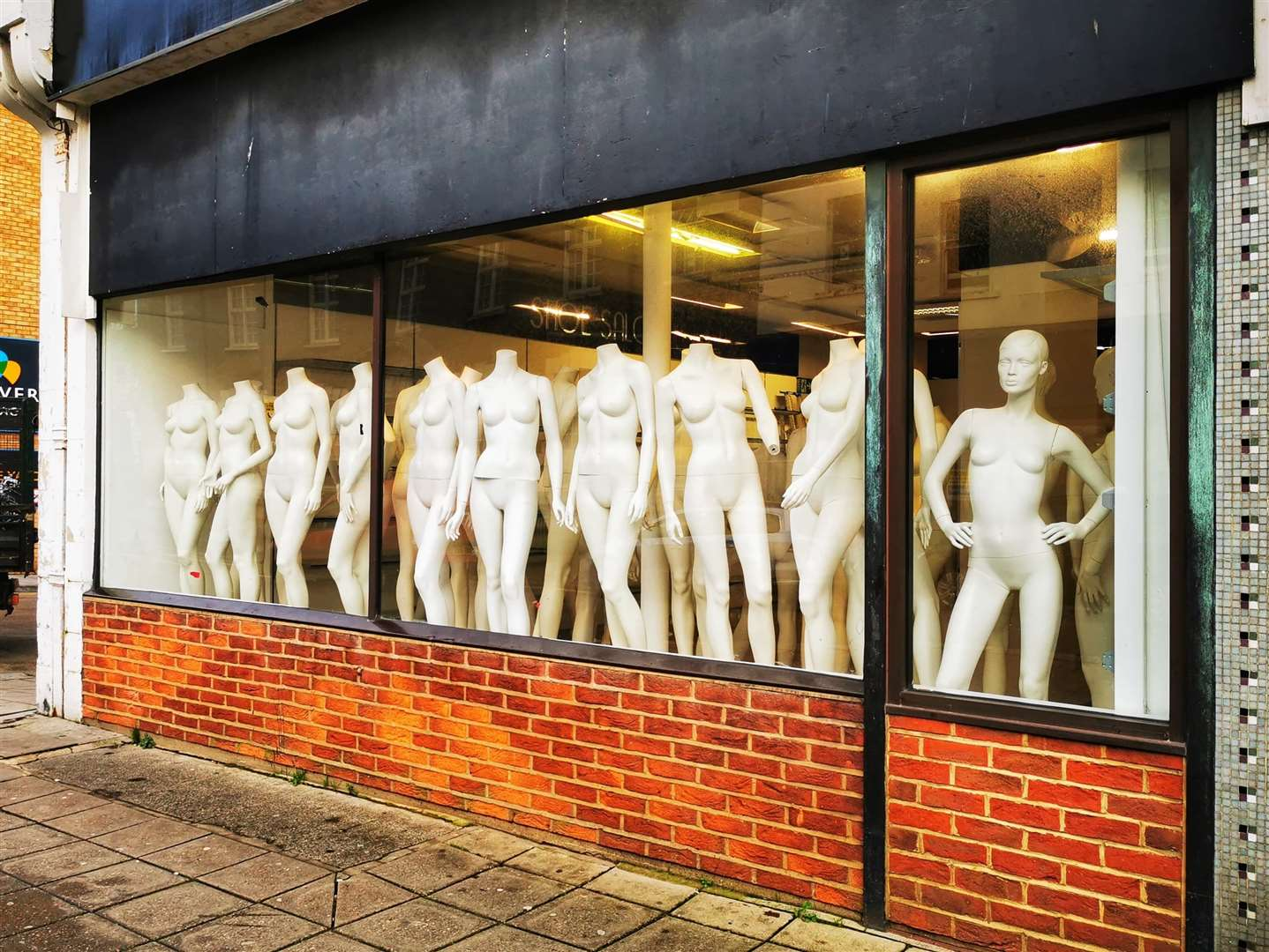 Mannequins on display in the Folkestone store. Picture: Dan Desborough