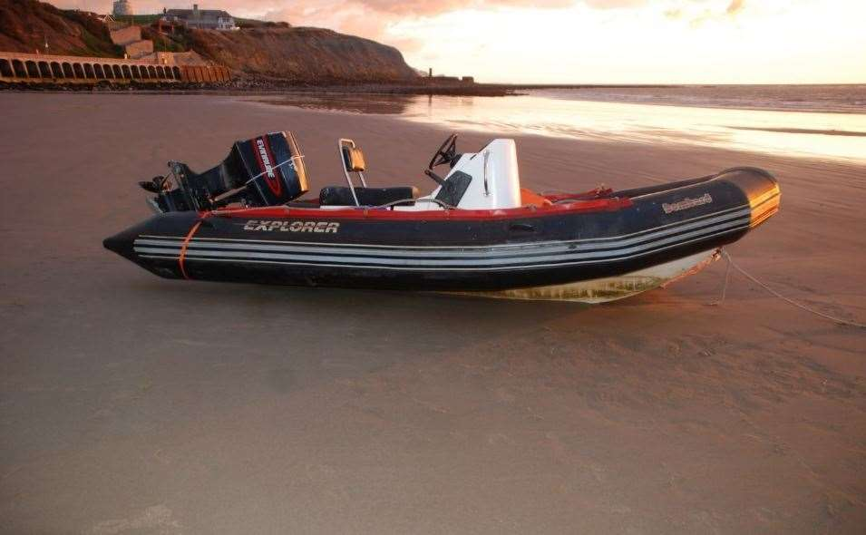 A RHIB used to transport migrants Picture: Met Police