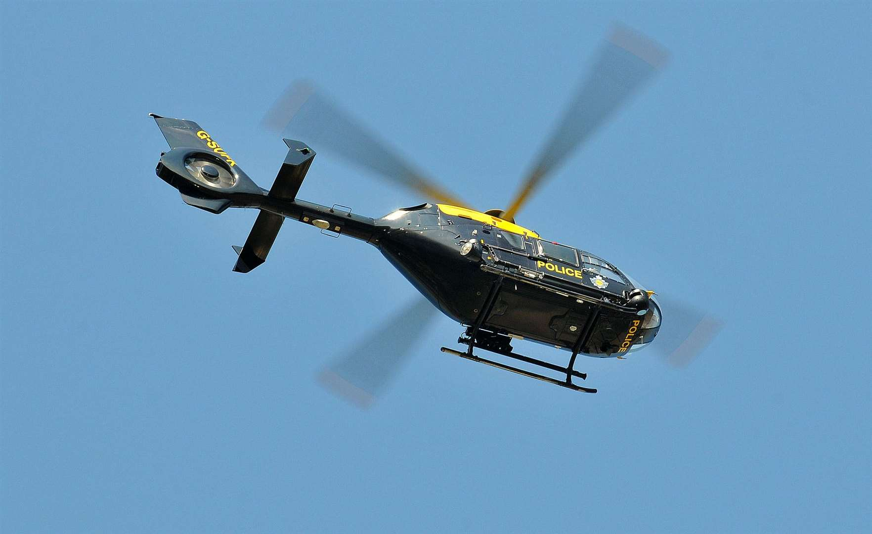 A police helicopter was seen above Strood, Frindsbury and Wainscott last night