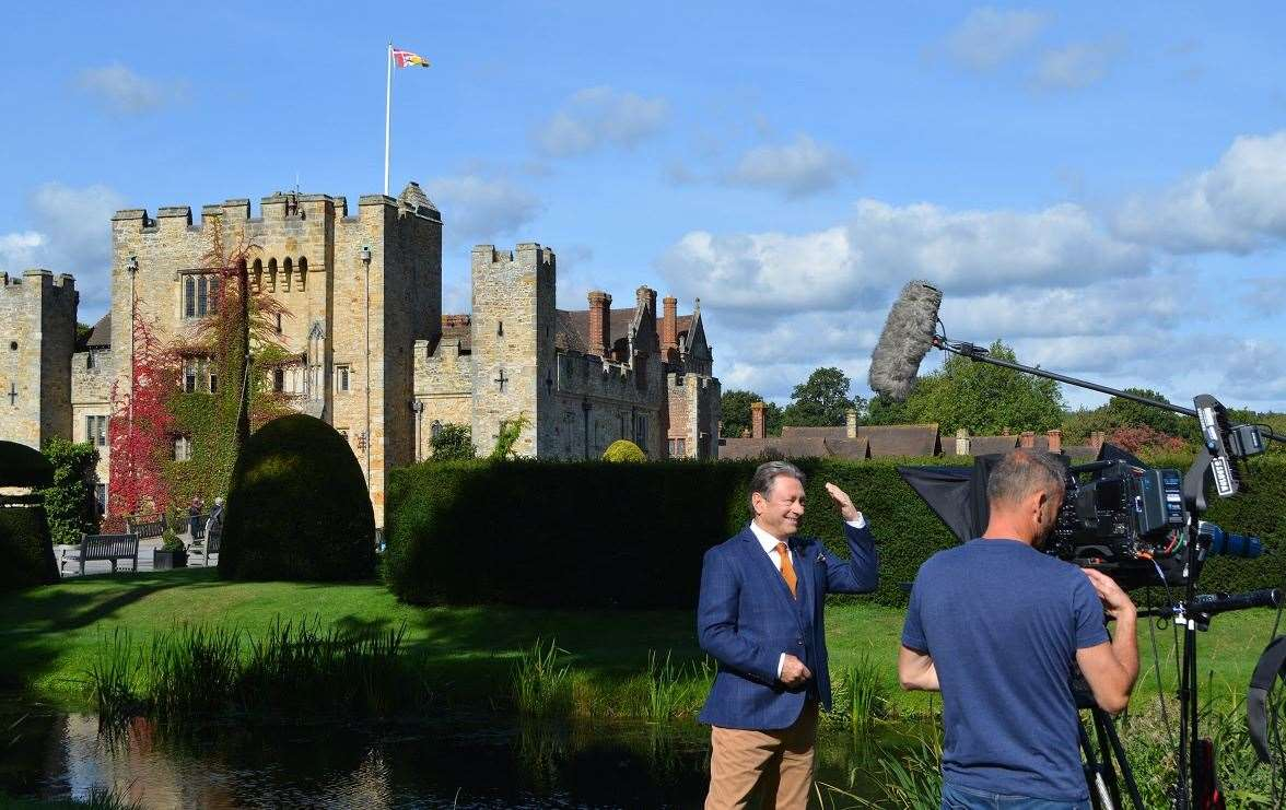 Film crews are regularly at Hever Castle and Gardens