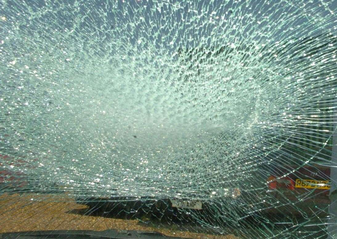Vehicles have had their windows smashed just after Junction 2 of the M20 File image