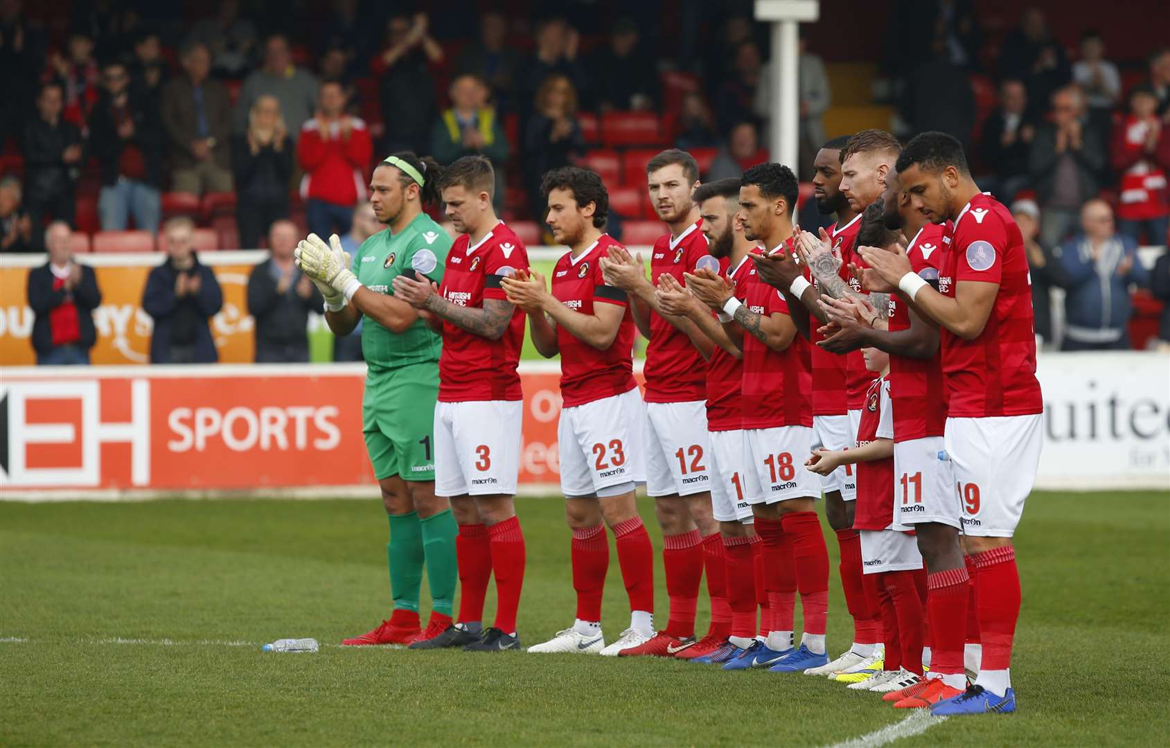 There was a minute's applause for Michael Thalassitis before Ebbsfleet's game against Wrexham Picture: Andy Jones