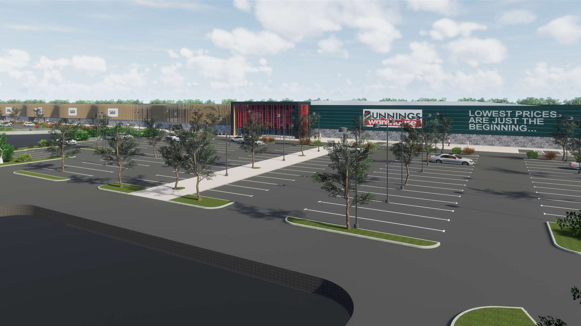 How the Bunnings store could look. Picture courtesy of Indigo Planning.