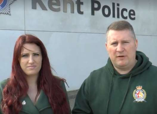 Leader Paul Golding and his deputy Jayda Fransen