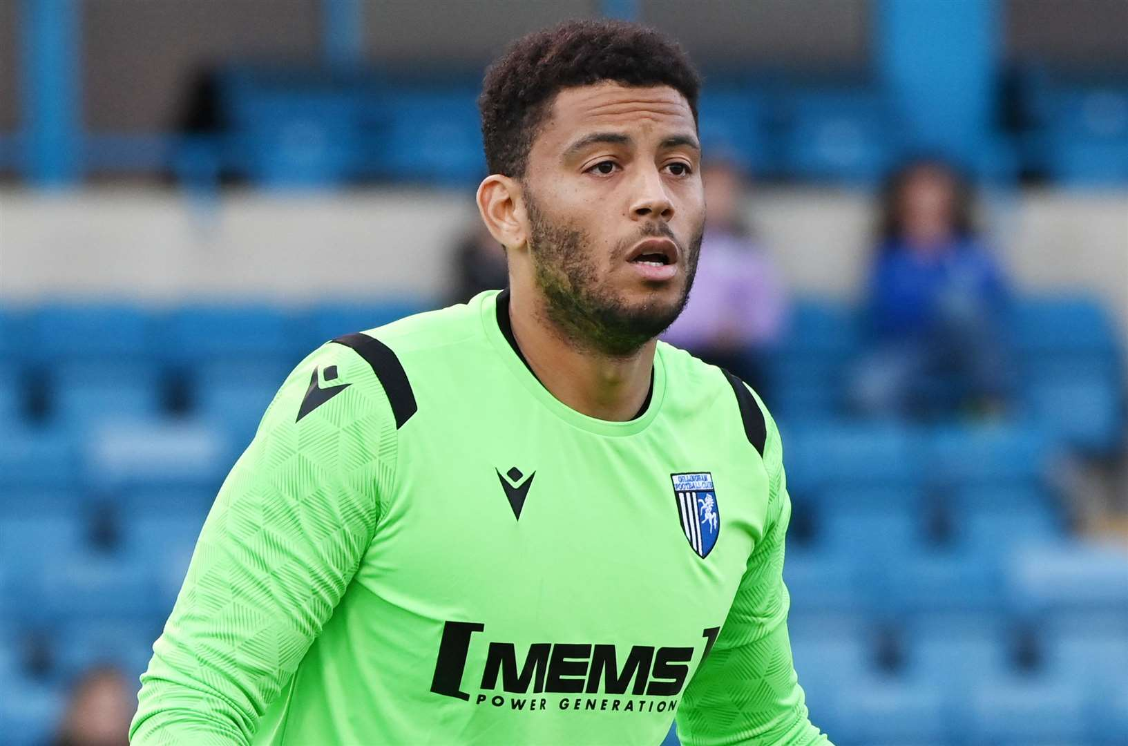 Gillingham goalkeeper Aaron Chapman couldn't save any of Cheltenham's five shots on goal.  Photo: Barry Goodwin (49649721)